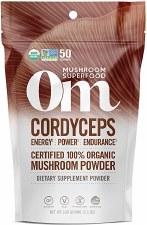 Om Mushroom Superfood Organic Cordyceps Powder, 3.5 oz.