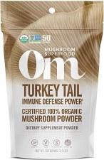 Om Mushroom Superfood Turkey Tail Immune Defense Powder, 3.5 oz.