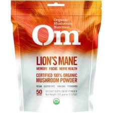 Om Mushroom Superfood Organic Lion's Mane Powder, 3.5 oz.