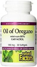 Natural Factors Oil of Oregano 180 mg, 30 softgels