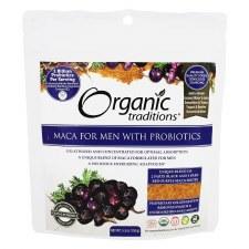 Organic Traditions Maca For Men With Probiotics, 5.3 oz.
