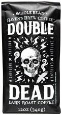 Raven's Brew Double Dead Dark Roast Coffee, 12 oz.