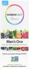 Rainbow Light Mens Multu One a Day, 60 tablets