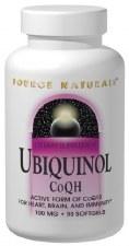Source Naturals Ubiquinol CoQH, 100mg, 90 soft gels