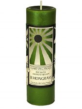 "Sunbeam Lemongrass Aroma Pillar Candle, 6"""