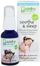 Siddha Flower Essences Kids 2+ Soothe & Sleep Homeopathic Remedy, 1 oz.