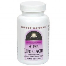 Source Naturals Alpha Lypoic Acid 300mg, Time Released, 120 tablets
