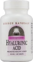 Source Naturals Hyaluronic Acid, 50mg, 60 tablets