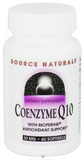 Source Naturals CoQ10 with Bioperine, 30mg, 30+30 soft gels
