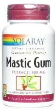 Solaray Mastic Gum 500mg, 45 vegetarian capsules