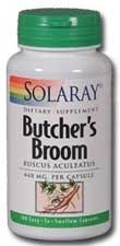 Solaray Butchers Broom 440mg 100 capsules