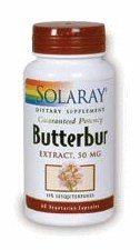 Solaray Butterbur 50mg 60 vegcaps