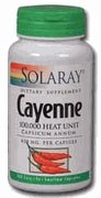 Solaray Cayenne 515mg 100 capsules