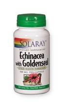 Solaray Echinacea Root with Goldenseal 500mg 100 capsules