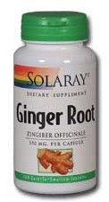 Solaray Ginger Root 550mg 100 capsules