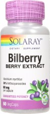 Solaray Bilberry Extract 60mg 60 capsules