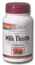 Solaray Milk Thistle Extract, 17mg, 120 capsules