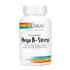 Solaray Mega B-Stress, 120 time release vegetarian capsules
