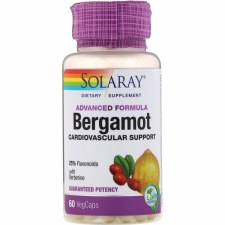 Solaray Begamot, 60 vegetarian capsules