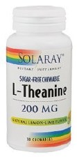 Solaray L-Theanine, 200mg, 30 chewable tablets