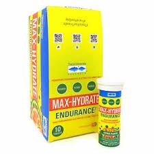 Trace Minerals Research Citrus Flavored Max Hydration Endurance, 10 tablets
