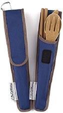 To-Go Ware Dark Blue Bamboo Utensil Kit