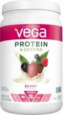 Vega Berry Protein & Greens, 21.8 oz.