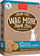 Cloud Star Grain Free Wag More Bark Less Oven Baked Biscuits with Smooth Aged Cheddar, 14 oz.