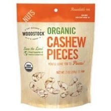 Woodstock Farms Organic Raw Cashews, Fancy Pieces,