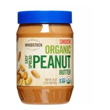 Woodstock Farms Organic Smooth Peanut Butter, 35 oz.
