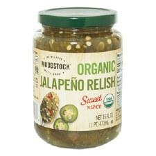 Woodstock Farms Organic Jalapeno Sweet Relish, 16 oz.