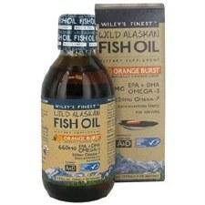 Wiley's Finest Orange Burst Wild Alaskan Fish Oil, 8.45 oz.
