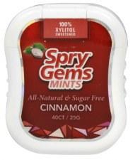 Xlear Spry Gems Cinnamon Mints, 40 count