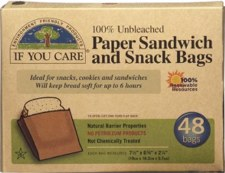If You Care Paper Sandwich and Snack Bags, 48 bags