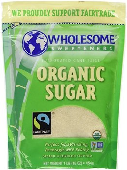 Wholesome Sweeteners Organic Cane Sugar, 1 lb.