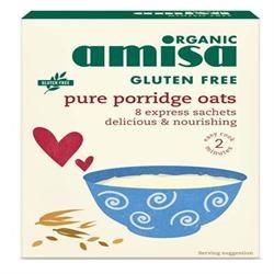 Amisa Org GF Porridge Oats Sachets 8 x 27g
