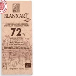 Blanxart 72% Dominica Dark with Almonds 150g