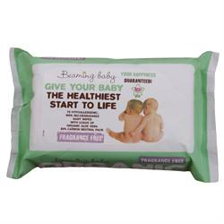 Beaming Baby Organic BabyWipes Unfragranced 72wipes