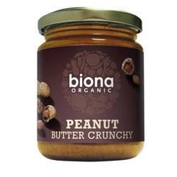 Biona Peanut Butter Crunchy & Salt 250g