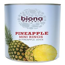 Biona Org Mini Pineapple Rings 425g