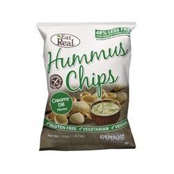 Eat Real  Eat Real Humus Chip Cream Dill 135g