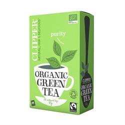 Clipper Fairtrade Organic Green Tea 25bag