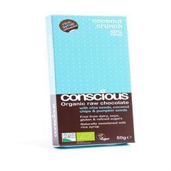 Conscious Chocolate Chia & Coconut 60g