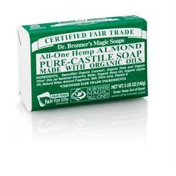 Dr Bronner Org Almond Soap Bar 140g