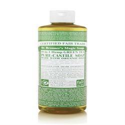 Dr Bronner Org Green Tea Castile Liq Soap 473ml