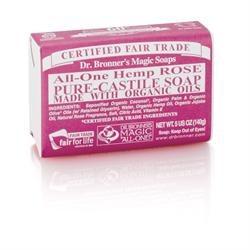 Dr Bronner Org Rose Soap Bar 140g