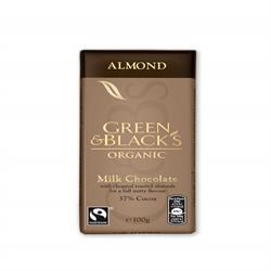 Green & Blacks Milk Choc with Chopped Almond 90g