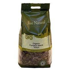 Just Natural Organic Org Pumpkin Seeds 500g