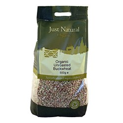 Just Natural Organic Org Buckwheat Unroasted 500g