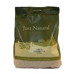 Just Natural Organic Org Basmati White Rice 1000g